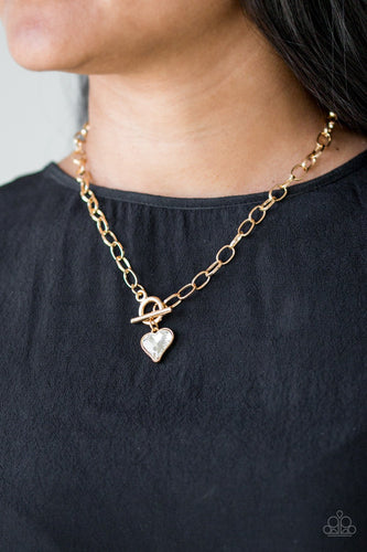 Princeton Princess-gold-Paparazzi necklace