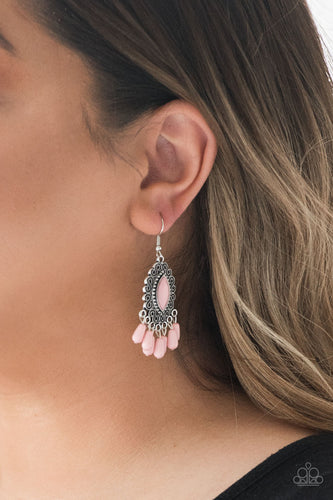 Private Villa - pink - Paparazzi earrings