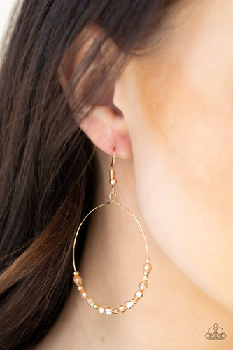 Prize Winning Sparkle-gold-Paparazzi earrings