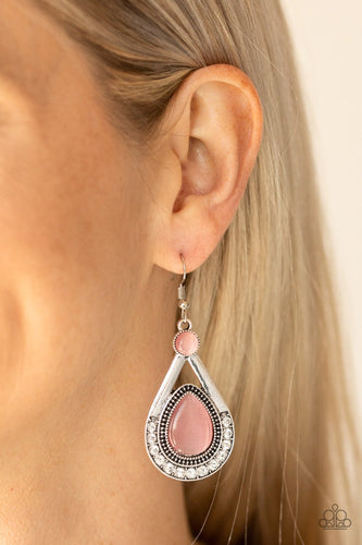 Pro Glow-pink-Paparazzi earrings