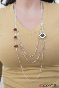 Put on your Dancing Shoes - brown - Paparazzi necklace