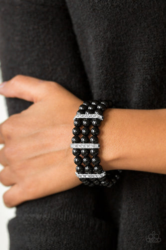 Put on your GLAM Face - black - Paparazzi bracelet