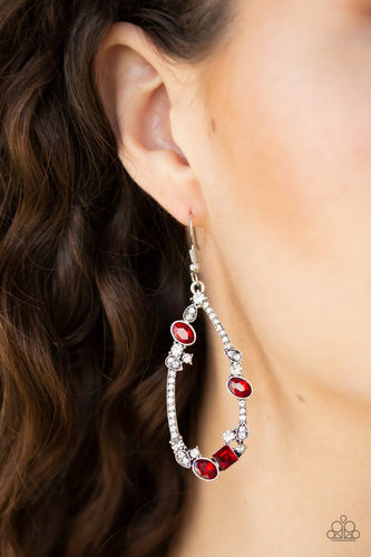 Quite the Collection-red-Paparazzi earrings