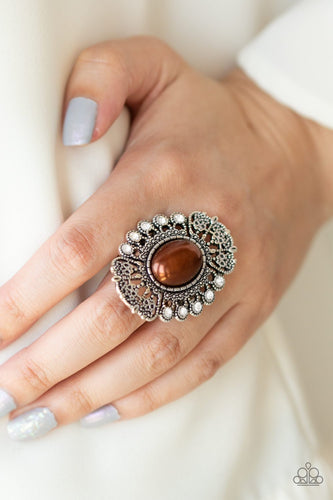 Radiantly Regal-brown-Paparazzi ring