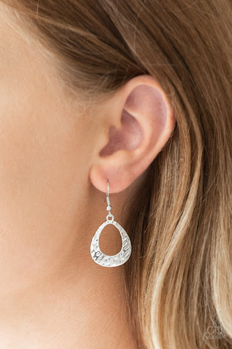 Radiantly Rugged-silver-Paparazzi earrings
