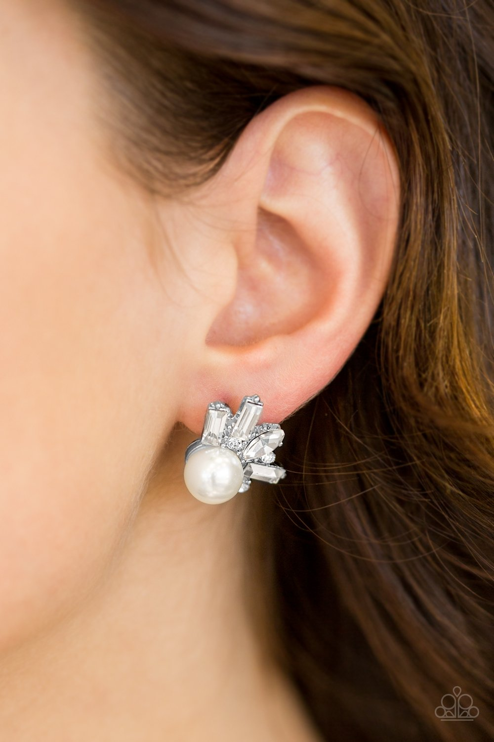 Radical Radiance - white - Paparazzi earrings