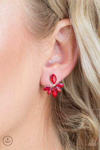 Radical Refinement - red - Paparazzi earrings