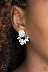 Radically Royal - white - Paparazzi earrings
