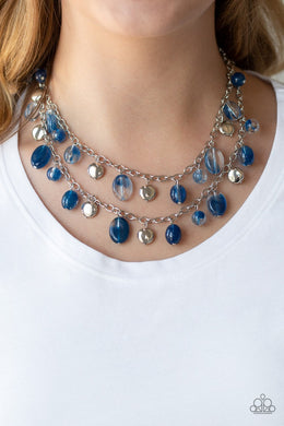 Rainbow Shine - blue - Paparazzi necklace