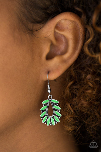 Rainforest Romance - green - Paparazzi earrings