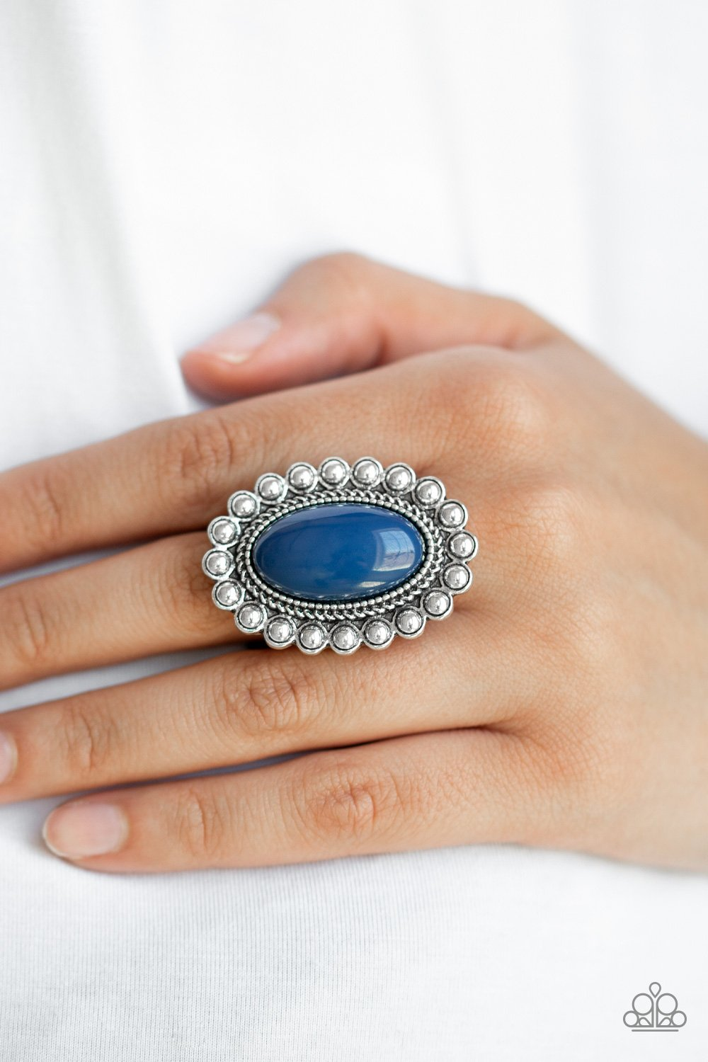Ready to POP-blue-Paparazzi ring