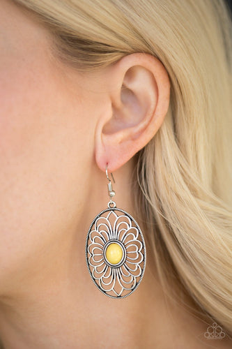 Really Whimsy - yellow - Paparazzi earrings