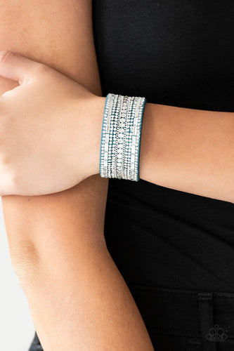 Rebel Radiance - blue - Paparazzi bracelet