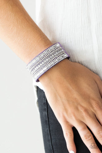 Rebel Radiance - purple - Paparazzi wrap bracelet