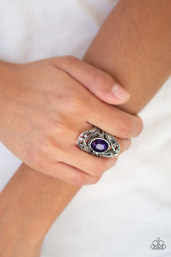 Red Carpet Rebel-purple-Paparazzi ring