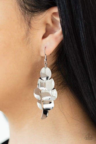 Resplendent Reflection-silver-Paparazzi earrings
