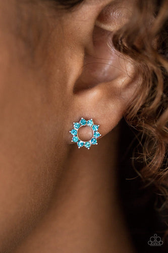 Richly Resplendent - blue - Paparazzi earrings