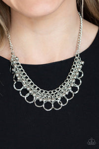 Ring Leader Radiance-silver-Paparazzi necklace