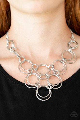 Ringing off the Hook - silver - Paparazzi necklace