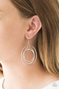 Rippling Radiance - silver - Paparazzi earrings