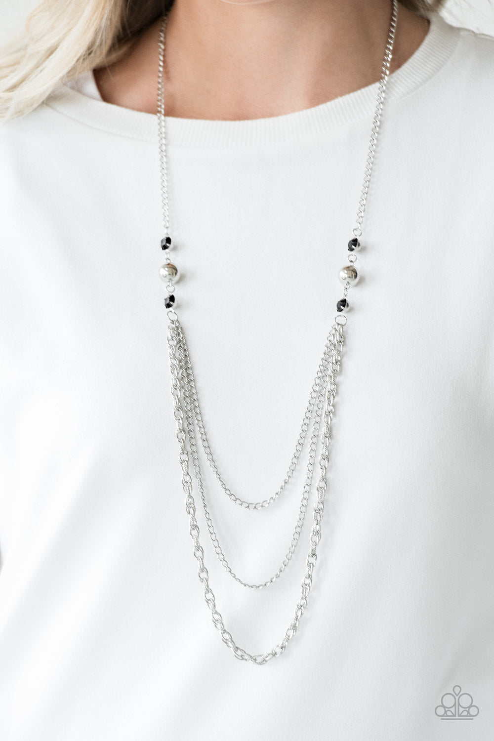 Ritz It All - black - Paparazzi necklace