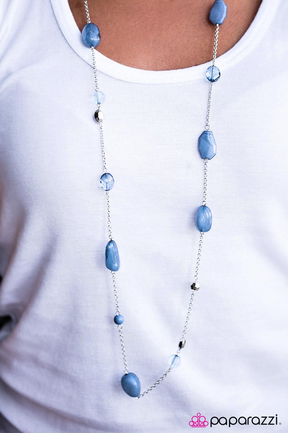 River Cruise -  blue - Paparazzi necklace