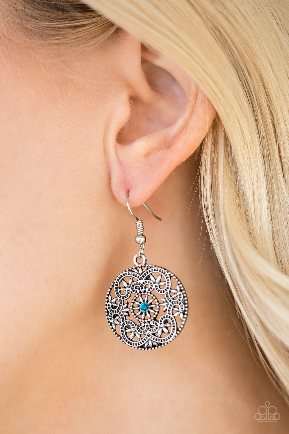 Rochester Royal - blue - Paparazzi earrings