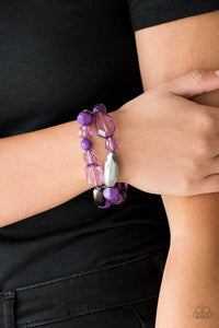 Rocking Rock Candy - purple - Paparazzi bracelet