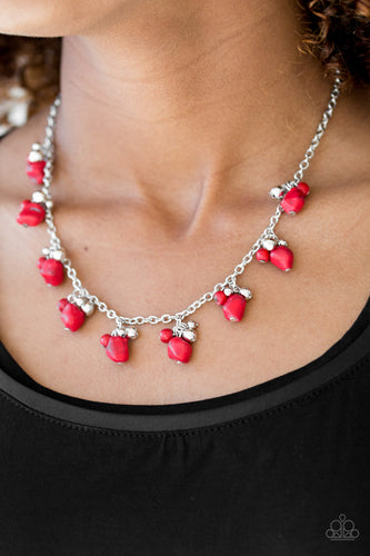Rocky Mountain Magnificence - red - Paparazzi necklace