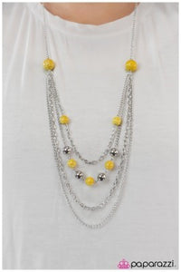 Roman Holiday - Yellow - Paparazzi necklace