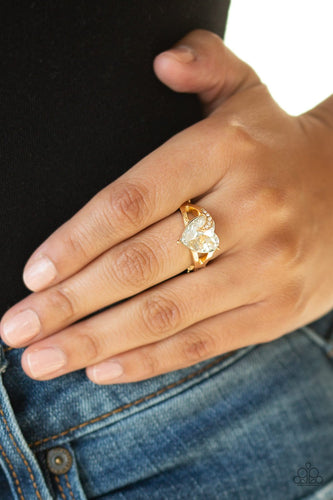 Romantic Reverie-gold-Paparazzi ring