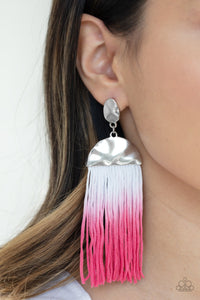 Rope Them In - pink - Paparazzi earrings