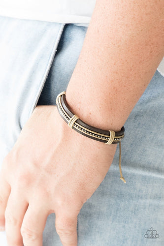 Rugged Rambler - brown - Paparazzi bracelet
