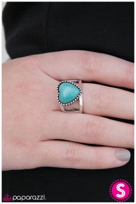 Rule With Your Heart - Blue - Paparazzi ring