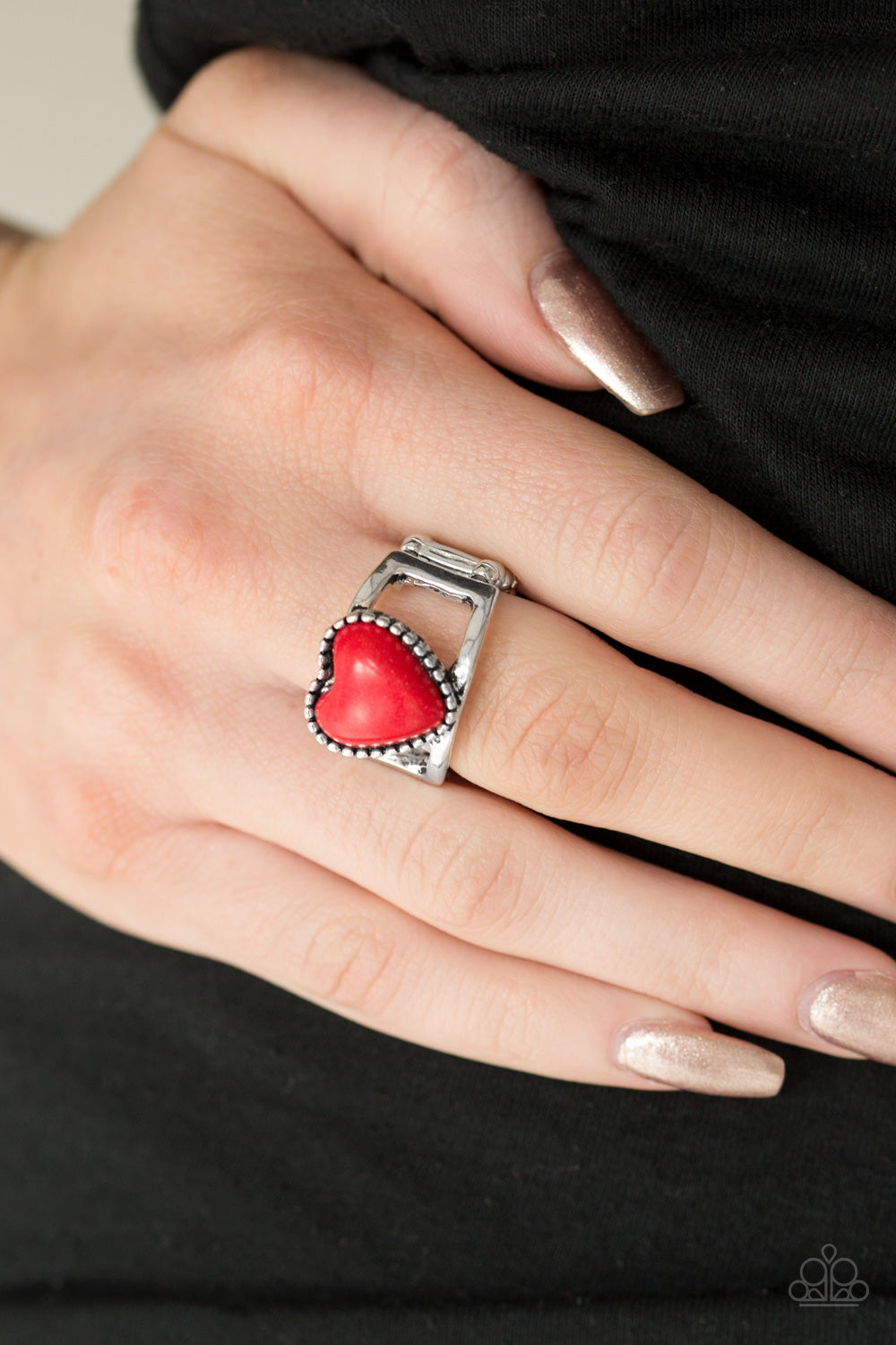 Rule With Your Heart - red - Paparazzi ring
