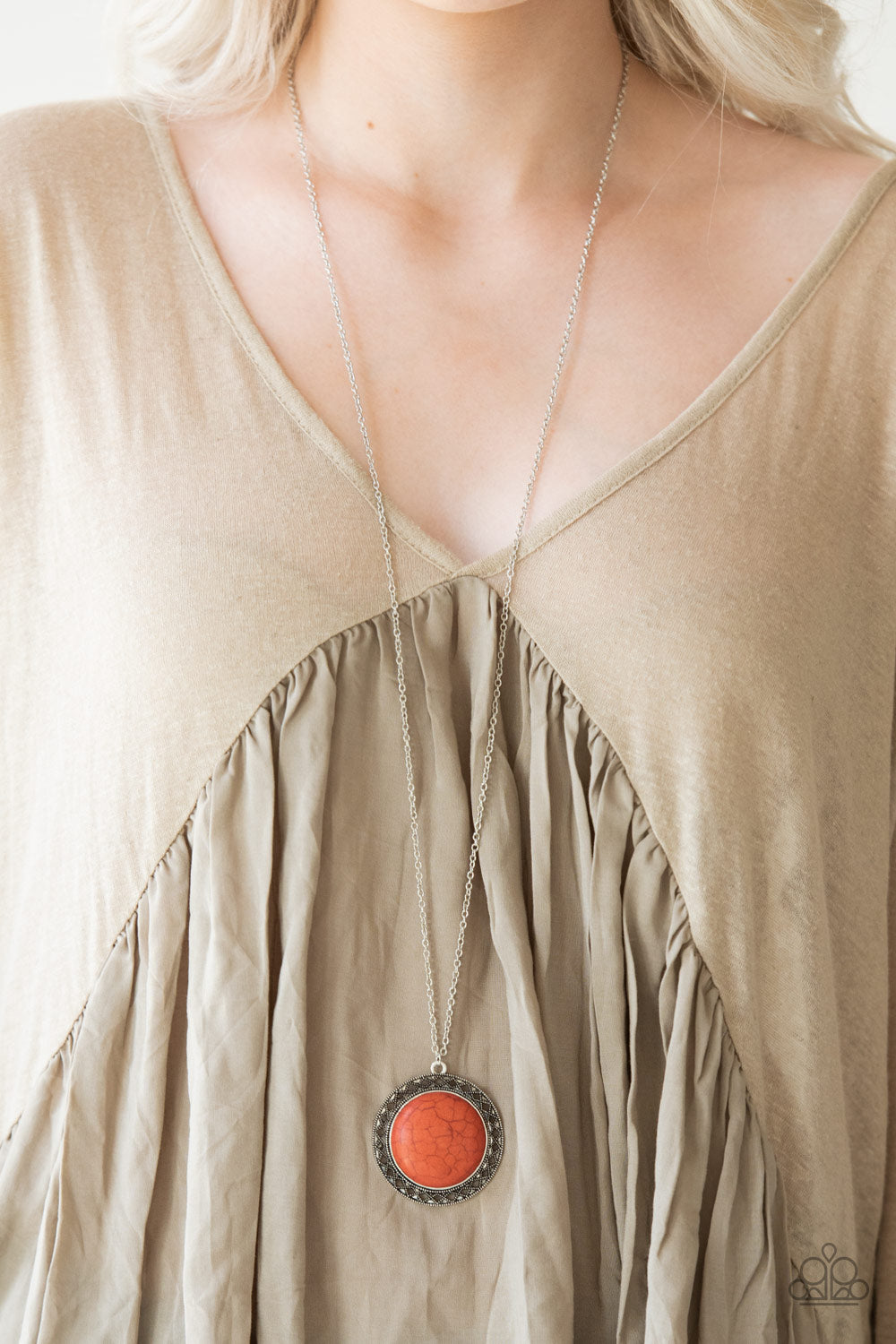 Run Out of Rodeo - orange - Paparazzi necklace