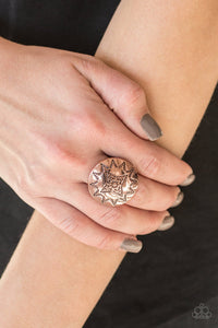 Rural Radius-copper-Paparazzi ring