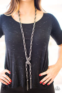 SCARFed for Attention - Gunmetal - Paparazzi necklace