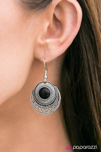 SOL Sister - Black - Paparazzi earrings