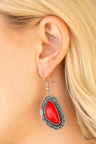 Santa Fe Soul - red - Paparazzi earrings