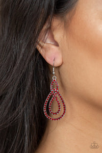 Sassy Sophistication - red - Paparazzi earrings