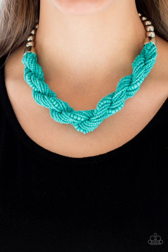 Savannah Surfin-blue-Paparazzi necklace