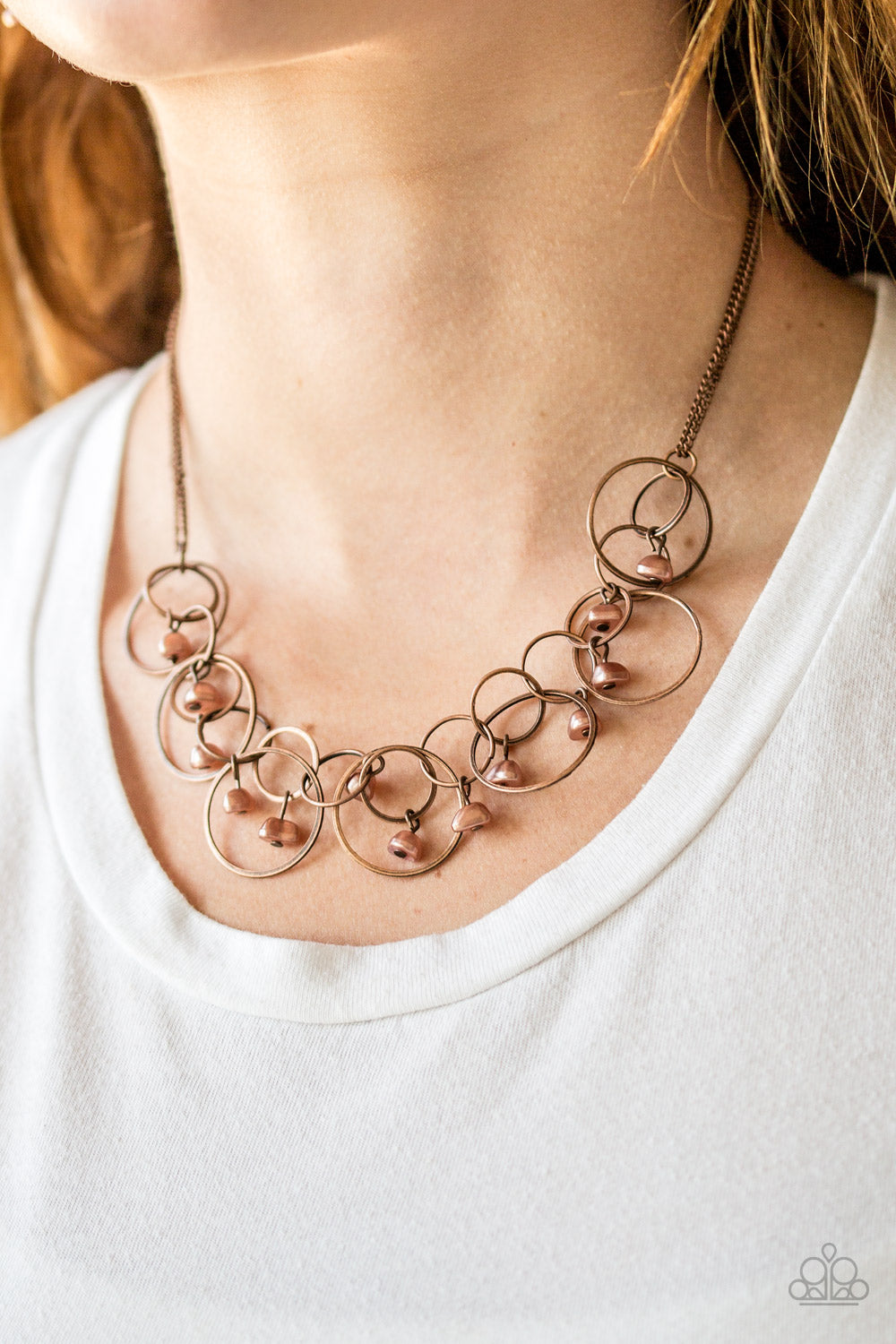 Seafront Scene - copper - Paparazzi necklace