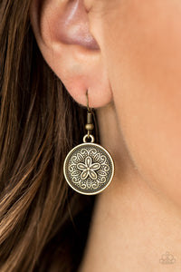 Seeing Star Lilies - brass - Paparazzi earrings