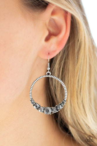 Self-Made Millionaire-silver-Paparazzi earrings