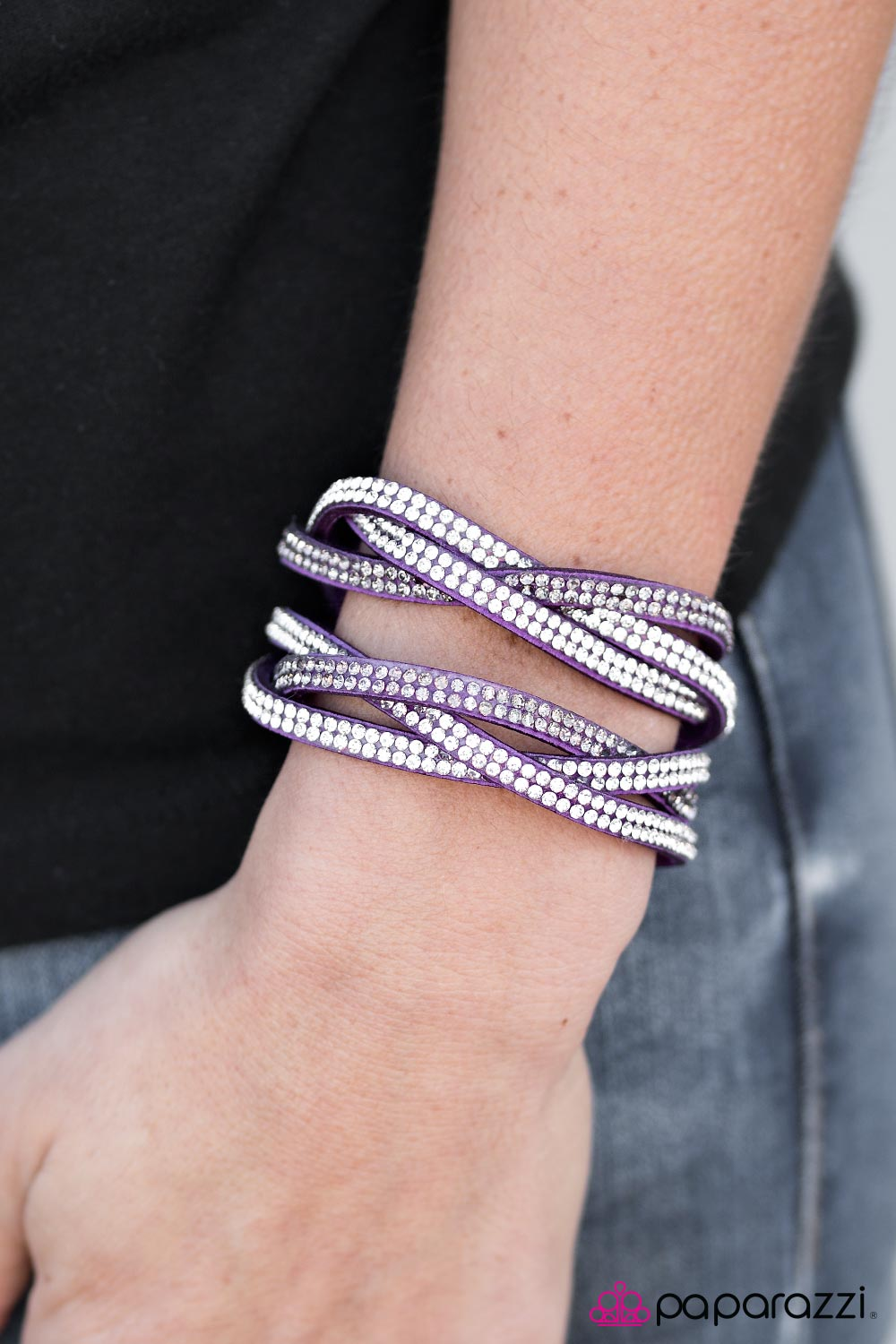 Send In The Sparkle! - Purple - Paparazzi bracelet