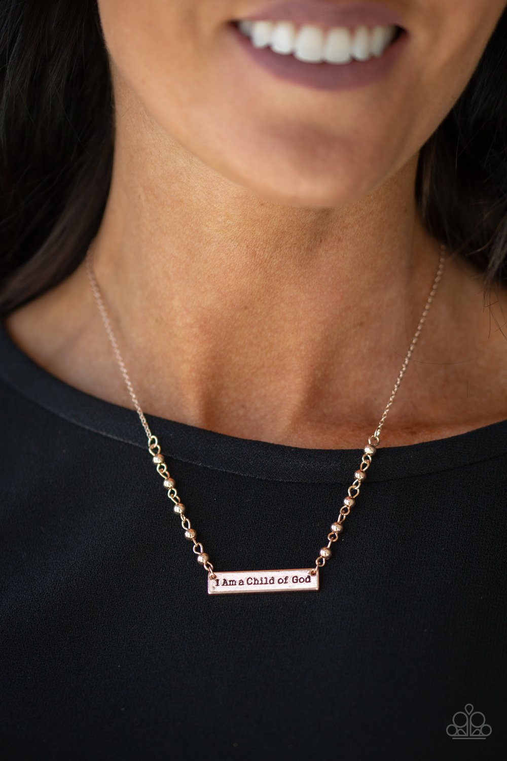 Send Me An Angel - rose gold - Paparazzi necklace