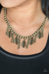 Serenely Sequoia - brass - Paparazzi necklace