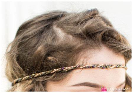 Shimmer with a Twist - Paparazzi hippie headband