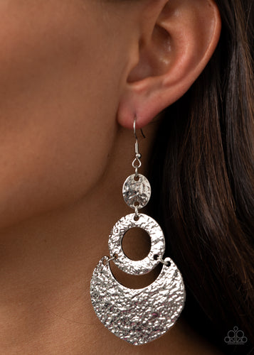 Shimmer Suite - silver - Paparazzi earrings